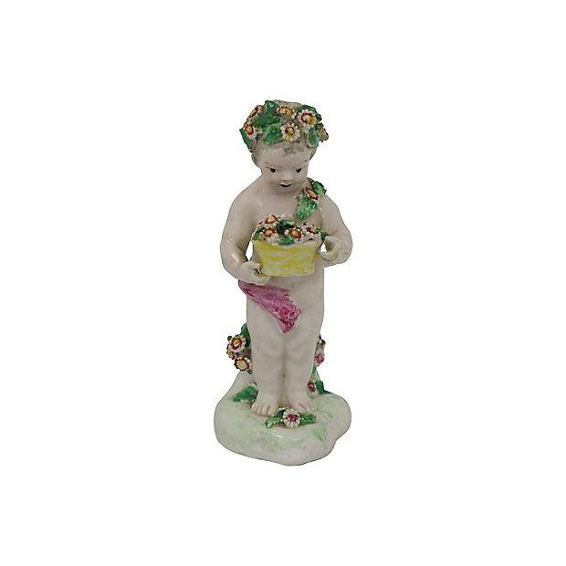 18th-C Derby Porcelain Cherub - C. 1790 For Sale In Los Angeles - Image 6 of 6