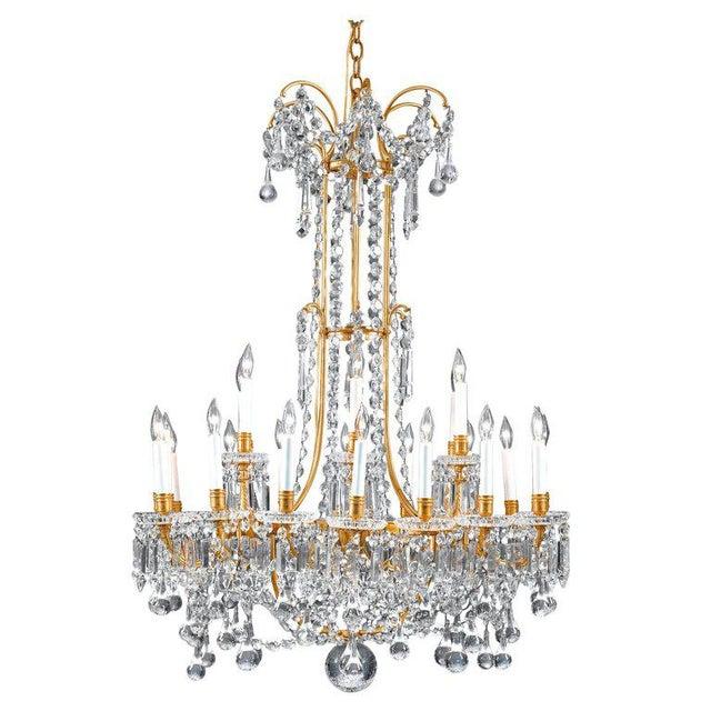 Baccarat Baccarat Crystal Twenty-Four-light Chandelier For Sale - Image 4 of 4