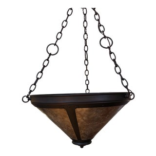 Mica Lamp Company Hook Uplight Chandelier For Sale