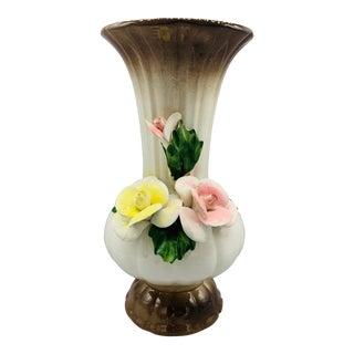 Vintage Capodimonte Floral Vase For Sale