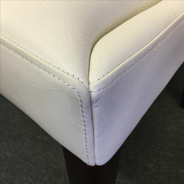 Dakota Jackson White Leather Marina Odile Chair - Image 10 of 10