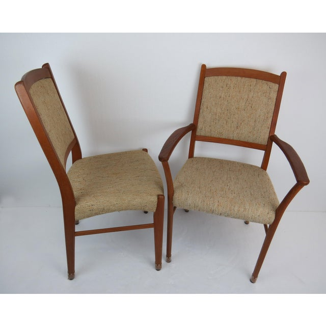 1960s Sculptural Mid-Century Modern Danish Teak Dining Chairs - Set of 4 For Sale - Image 4 of 13