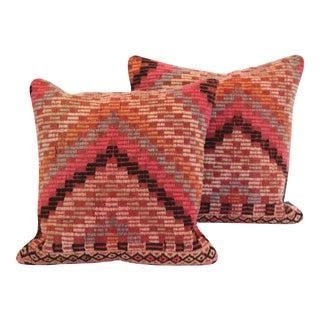 Turkish Kilim Pink Cushions - a Pair