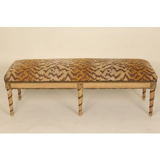 1970s Vintage Louis XVI Style Painted and Partial Gilt Bench Preview