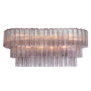 Murano Glass Amethyst Tronchi Chandelier For Sale