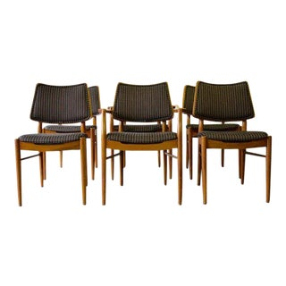 Mid Century Modern Walnut Dining Chairs, Set/6 For Sale