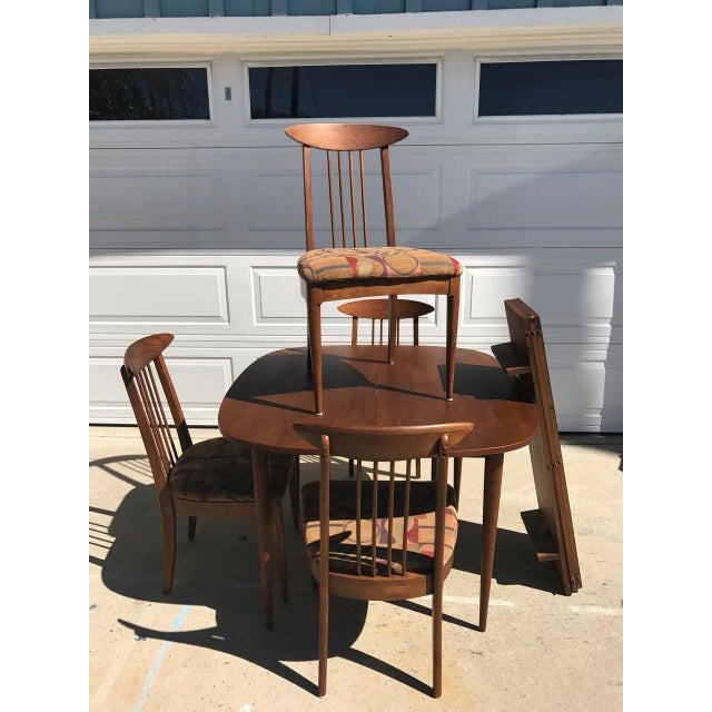Lenoir Broyhill Mid-Century Modern Dining Set - Table & 4 Chairs - Image 3 of 10