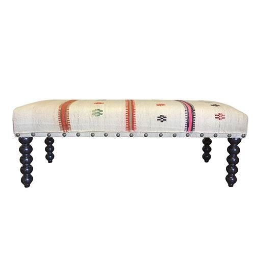 Kim Salmela Kilim Carly Bench - Image 2 of 6