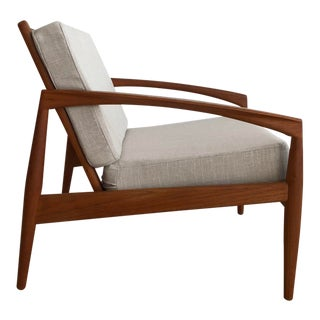1955 Mid-Century Modern Kai Kristiansen Teak Paper Knife Easy Chair For Sale