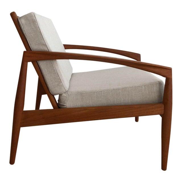 1955 Mid-Century Modern Kai Kristiansen Teak Paper Knife Easy Chair For Sale