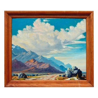 """Albert Ross Carter """"Out West in Death Valley"""" Painting"""