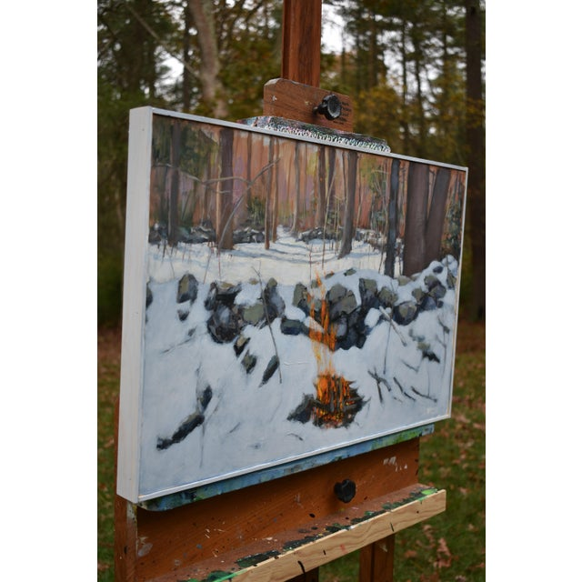 """White """"Miles From Nowhere"""" Contemporary Acrylic Painting by Stephen Remick, Framed For Sale - Image 8 of 12"""