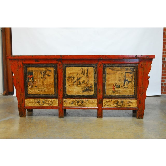 Asian 19th Century Chinese Server Sideboard Buffet For Sale - Image 3 of 9