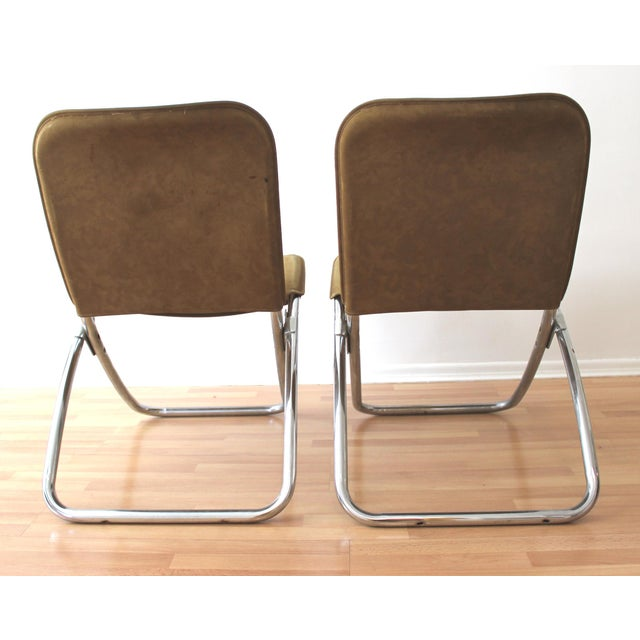 Folding Lounge Chairs - a Pair - Image 7 of 7