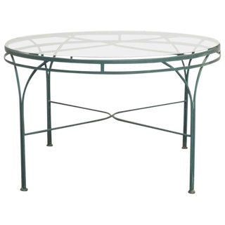 Mid-Century Round Aluminium Garden or Dining Table For Sale