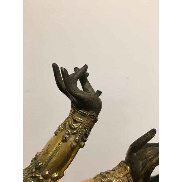 Gold Tibetan Gilt Bronze Arms of a Bodhisattva For Sale - Image 8 of 8