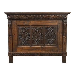 Early 19th Century Flemish Gothic Cabinet ~ Low Buffet ~ Console For Sale