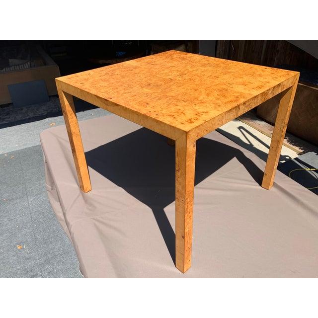Vintage Mid Century Modern Werner Kanner Burl Wood Table For Sale - Image 10 of 10