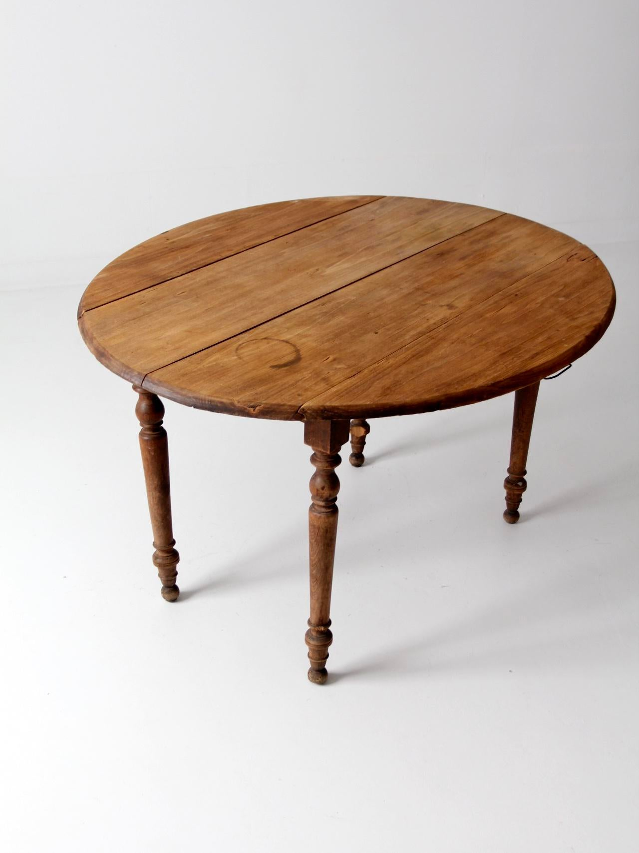 Antique French Drop Leaf Table   Image 3 Of 11