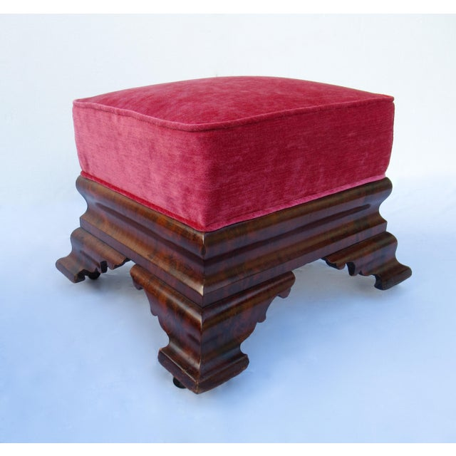 Red C.1840s-90s, Vintage Joseph Meeks & Sons Mahogany Ottomans - a Pair For Sale - Image 8 of 13