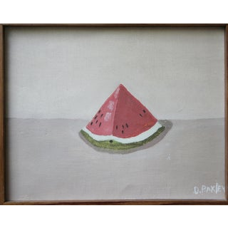 Charming Painting on Canvas of Watermelon For Sale
