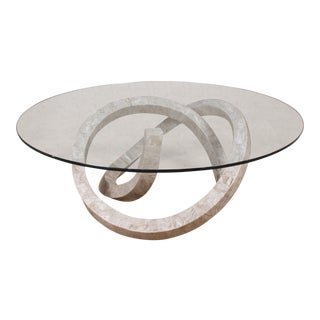 """Tessellated Cantor Stone """"Wild Ride"""" Coffee Table"""