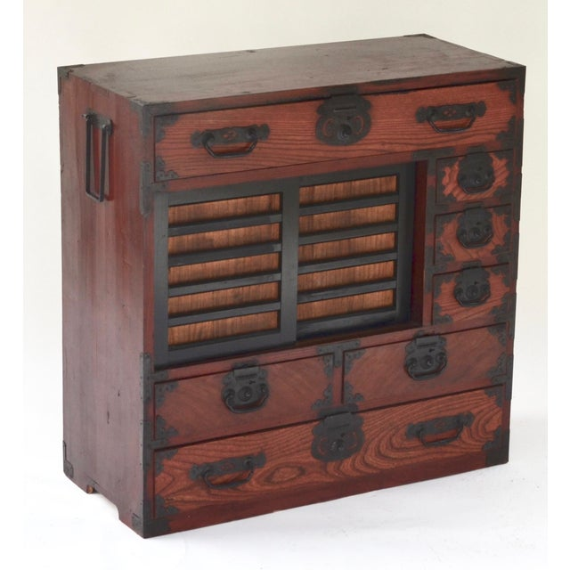 Antique Japanese Hardwood Choba Tansu For Sale - Image 4 of 7