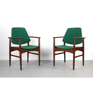 Set of Two (2) Danish Teak Accent Arm Chairs, Arne Hovmand-Olsen, Denmark Preview