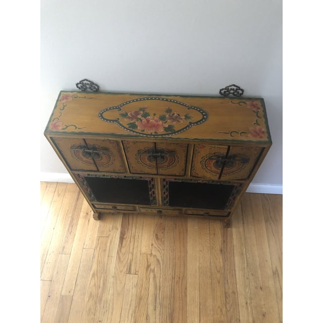 Asian Antique 19th Century Antique Wood Cabinet For Sale - Image 3 of 8