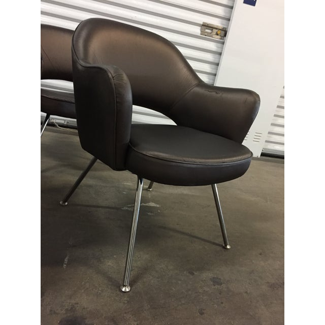 Gray 1975 Knoll Saarinen Executive Dining or Office Chairs - Set of 6 For Sale - Image 8 of 12