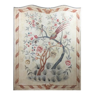 English Rose Gardens & Pheasants Faux Tapestry Panel