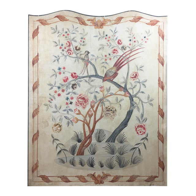 English Rose Gardens & Pheasants Faux Tapestry Panel For Sale