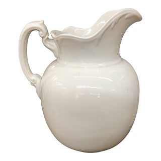 Antique Ironstone Pitcher For Sale