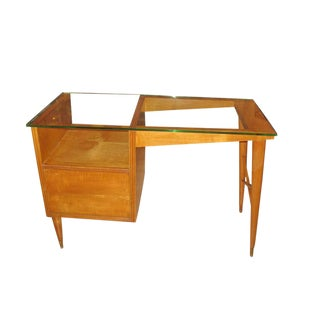 Carlo De Carli Fruitwood Desk For Sale