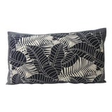 Image of Japanese Indigo Batik Bolster Decorative Pillow For Sale