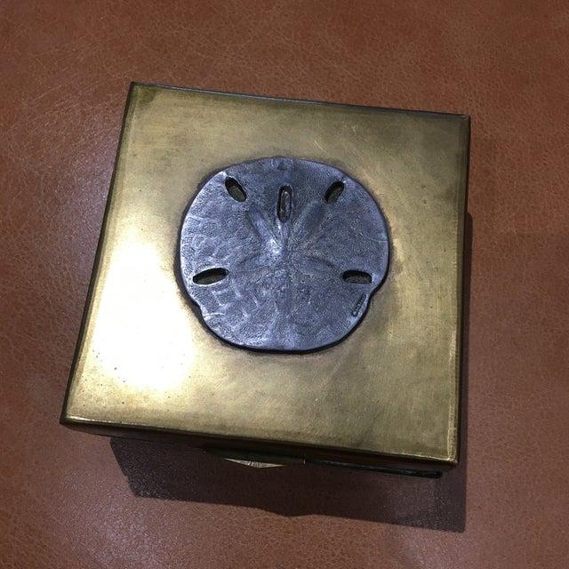 Vintage Brass Sand Dollar Box - Image 4 of 11
