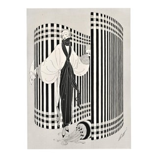Matted 1921 Erté Theater Screen & Fashion Costume Print For Sale