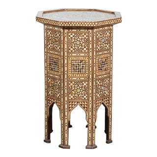 20th Century Syrian Large Octagonal Pedestal Table For Sale