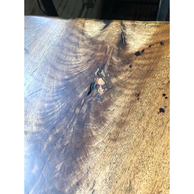 Brown Northern Italian 19th Century Walnut Trestle Table For Sale - Image 8 of 11