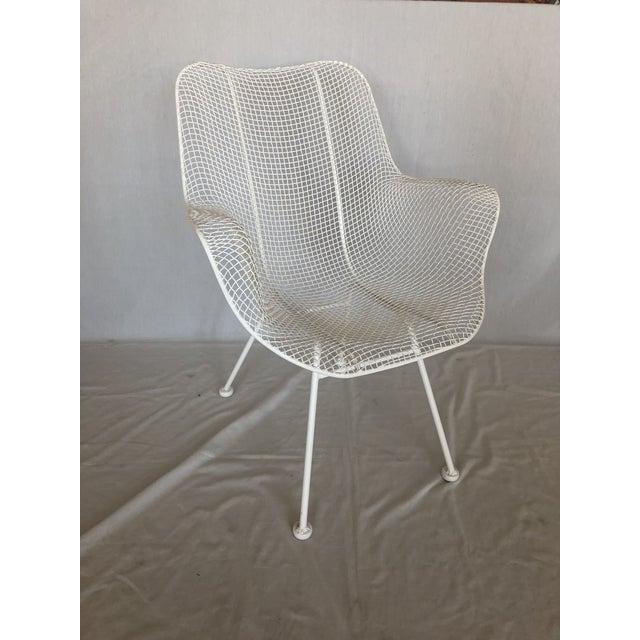1960s 1960s Vintage White Sculptura Russell Woodard Patio Chairs- A Pair For Sale - Image 5 of 13