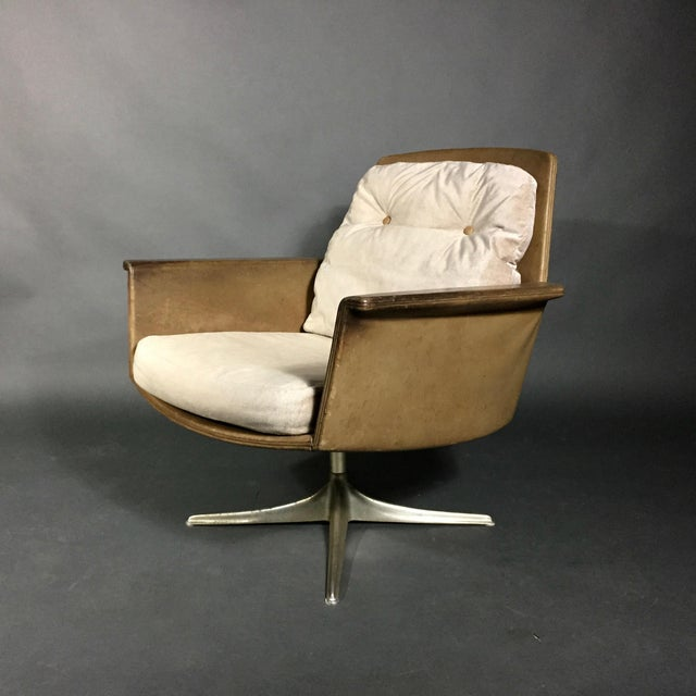 "Mid-Century Modern ""Sedia"" Leather Armchair by Horst Brüning for Cor Germany 1966 For Sale - Image 3 of 10"