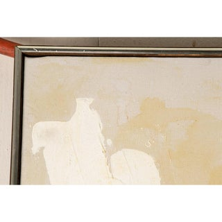 Large and Striking Mid Century Abstract Signed Mau Preview