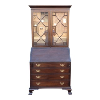 Kittinger Old Dominion Mahogany Slant Top Secretary Desk C1990s For Sale