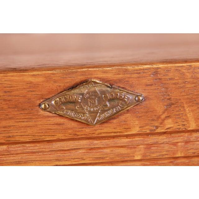 Antique Oak 24-Drawer Card Catalog File Cabinet, Circa 1920s For Sale - Image 12 of 13