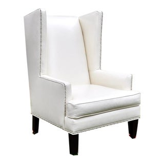Z Gallerie White Pebble Accent Chair For Sale