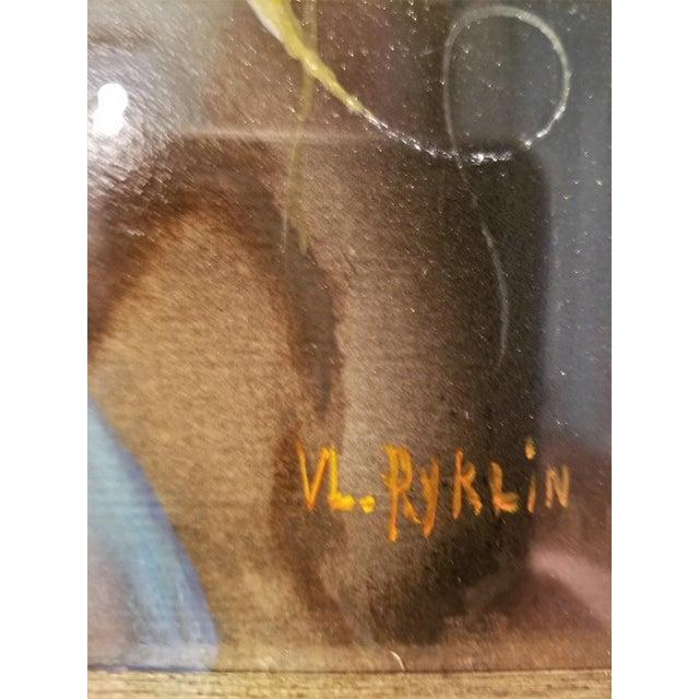 "Belle Epoque Vladimir Ryklin ""Cirque De Soleil 1"" Oil Painting on Canvas For Sale - Image 3 of 10"