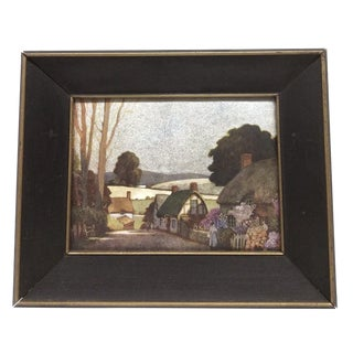 Vintage Framed Landscape Foil Print