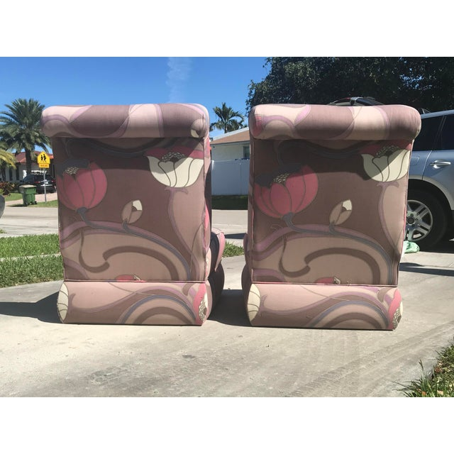1980s Pair of Jack Lenor Larsen Style Chairs For Sale - Image 5 of 10