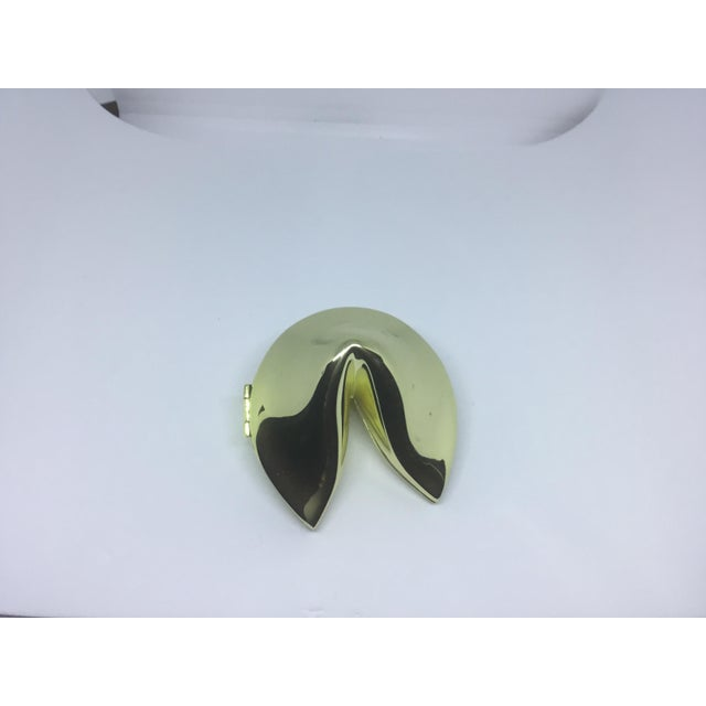 Modern Brass Fortune Cookie Trinket Box For Sale - Image 3 of 5