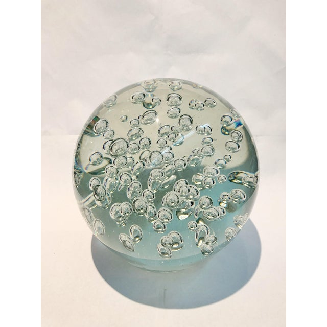 Anonymous Bubble Filled Glass Globe For Sale - Image 4 of 4